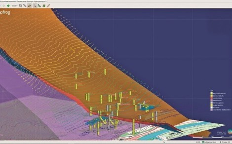Representation of the geology integrated in the BIM model